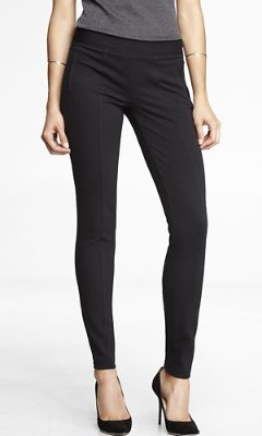 Express Twill Seamed Ankle Zip Legging