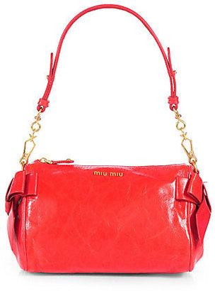Miu Miu Vitello Small Bow Shoulder Bag