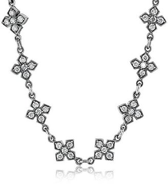 "King Baby ""Small"" MB Cross Necklace with Cubic Zirconia $880 thestylecure.com"