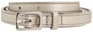 Cole Haan Village Soft Skinny Rectangle Belt (Platinum) - Apparel