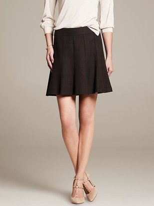 Banana Republic Heritage Basketweave Fit-and-Flare Skirt