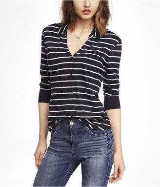 Express Striped Slub Knit Two Pocket Shirt