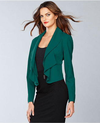 INC International Concepts Jacket, Ruffle Shawl-Collar Blazer