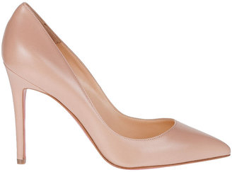 Christian Louboutin Pigalle 100 nude kid pump