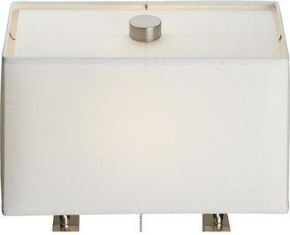 Crate & Barrel Charles Nickel Floor Lamp