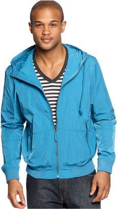 Calvin Klein Jeans Jacket, Hooded Nylon