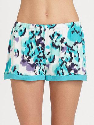 Cosabella Ikat-Print Pajama Shorts
