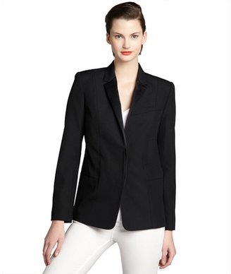 Alexander Wang black wool two-button blazer