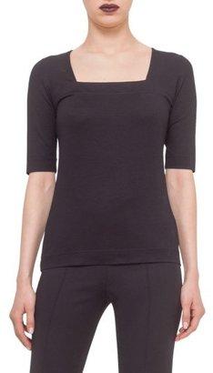 Women's Akris Punto Square Neck Jersey Tee $295 thestylecure.com