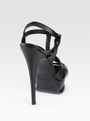 Saint Laurent Tribute Two Leather Platform Pumps