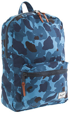 Herschel for crewcuts Settlement backpack in blue camo
