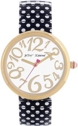 Betsey Johnson Polka Dot Strap Watch