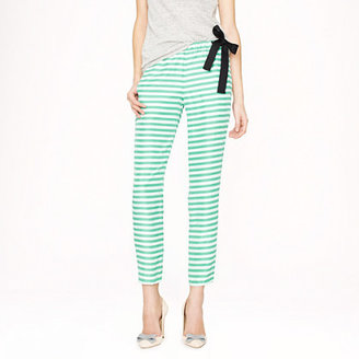 J.Crew Collection washed silk side-tie pant