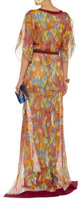 Matthew Williamson Printed silk-chiffon maxi dress