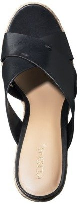 Merona Women's Eunice Slide Wedge Sandal - Black