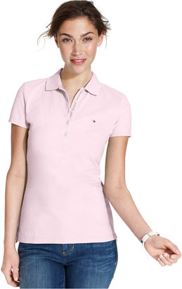 Tommy Hilfiger Short-Sleeve Polo Top, Only at Macy's $39.50 thestylecure.com