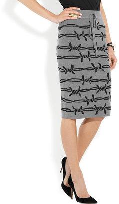 Vivienne Westwood Barbed wire-intarsia wool-blend pencil skirt