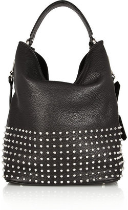 Burberry Shoes & Accessories Studded textured-leather tote