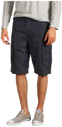Calvin Klein Jeans Coated Linen Short (Dark Steel) - Apparel