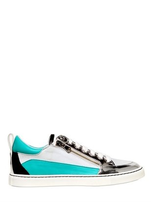 DSquared 20mm Mirrored Leather Sneakers