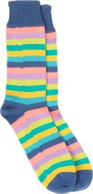 Corgi Striped Mid-Calf Socks