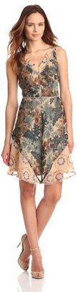 Anna Sui Women's Leaf And Berry Floral Print Chiffon Dress