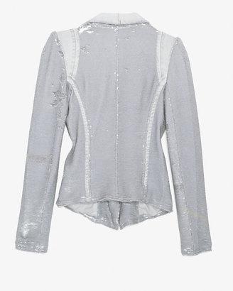 IRO Hadley Sequin Blazer: Ice