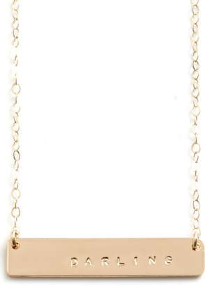 A Way With Words Necklace in Darling