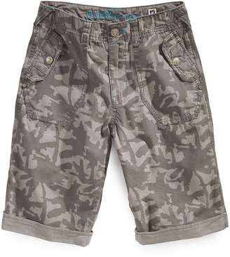 GUESS Shorts, Boys Belted Taylor Camo Shorts