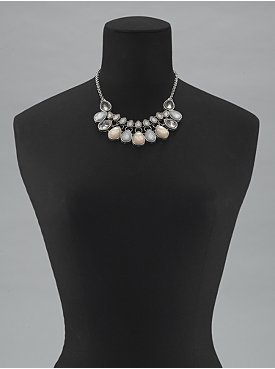 New York & Co. Teardrop Cluster Bib Necklace