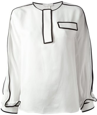 Chloé contrast trim blouse