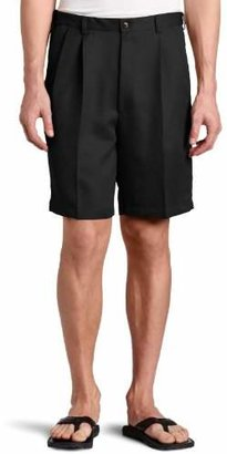 Haggar Men's Big-Tall Cool 18 Gabardine Hidden Expandable-Waist Pleat Short