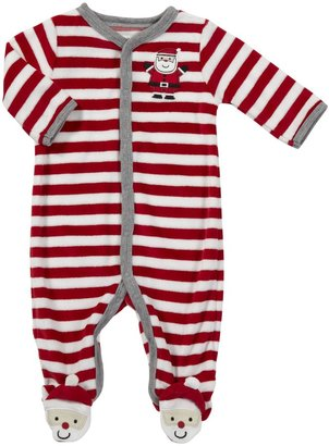 Carter's Santa Stripe Snap - Red- 9 Months