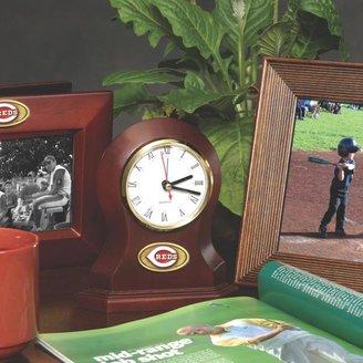 MEMORY Company Team Desk Clock - Cincinnati Reds