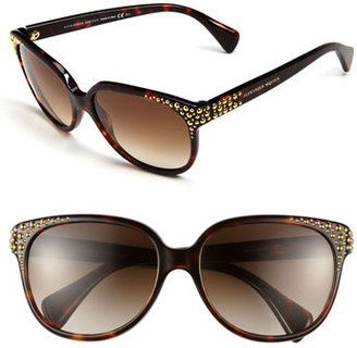Alexander McQueen 58mm Studded Retro Sunglasses