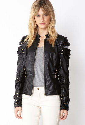 Forever 21 Contemporary Rebel Cutout Jacket