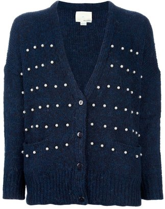 Band Of Outsiders STUDDED V-NECK CARDIGAN