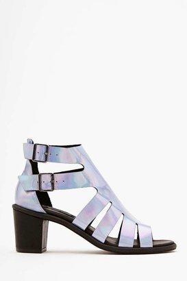Nasty Gal Miista Aurora Hologram Sandal
