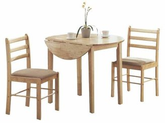 EveryRoom Drop Leave Dining Table - 3 Piece Set- Natural