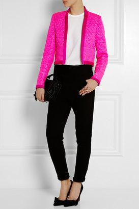 Isabel Marant Kade quilted silk-jacquard jacket