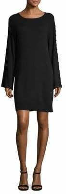 Equipment Long-Sleeve Buttoned Shift Dress