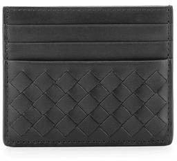 Bottega Veneta Intrecciato Leather Card Case $250 thestylecure.com