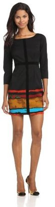 Plenty by Tracy Reese Women's Painted Contrast Frock
