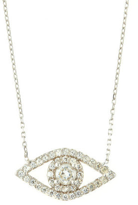 Susan Hanover Evil Eye Pendant Necklace, Clear