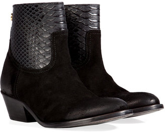 Zadig & Voltaire Teddy Leather Ankle Boots in Black