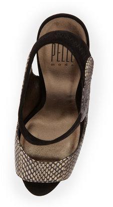 Pelle Moda Sable Snake-Print Pump, Black