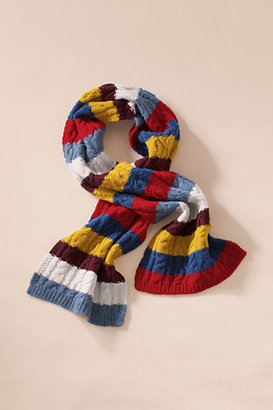 Lands' End Canvas Lambswool Cable Knit Scarf