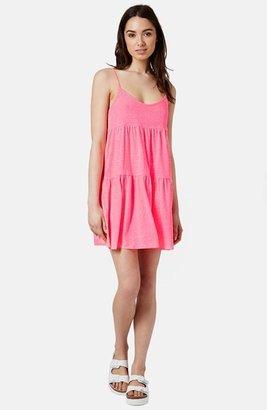Topshop Tiered Slub Knit Dress