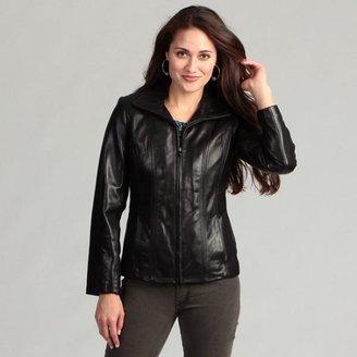 Jones New York Women's Black Leather Jacket $125.99 thestylecure.com