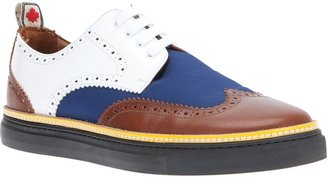 DSquared Dsquared2 contrasting panel derby shoe